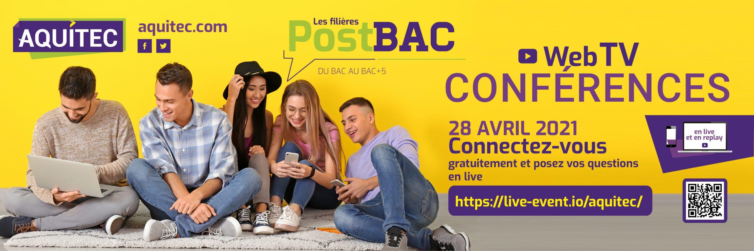 Web TV Conférences AQUITEC 28 avril